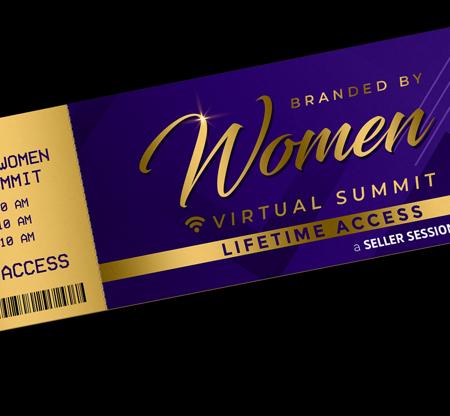 branded by women summit ticket mockup