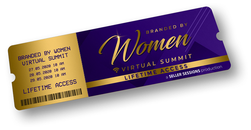 branded by women summit ticket mockup